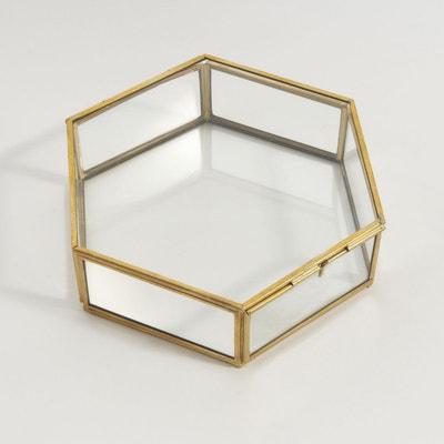 Boîte hexagonale verre et laiton Uyova La Redoute Interieurs