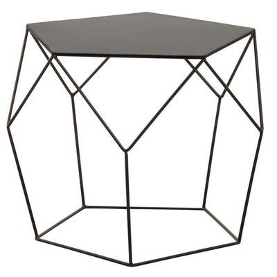 Table basse design en métal noir Table basse design en métal noir AUBRY GASPARD