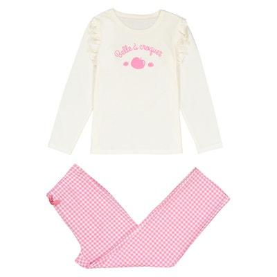 Pijama de manga larga con estampado, de 3 a 12 años Pijama de manga larga con estampado, de 3 a 12 años La Redoute Collections