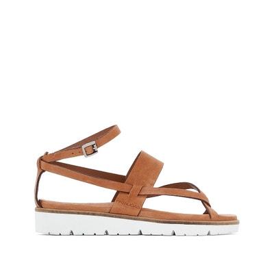 Icarus Leather Wedge Sandals PATAUGAS