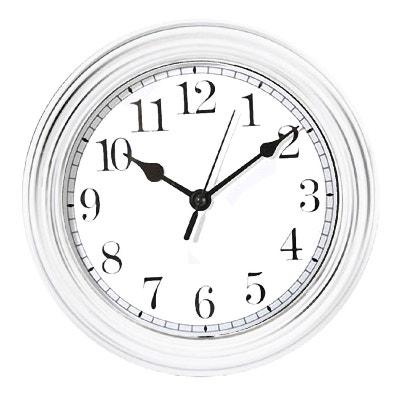 Horloge horloge murale design en solde la redoute for Pendule blanche design