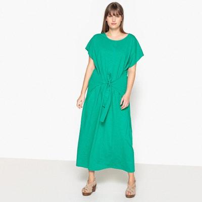 Effen, rechte lange jurk, korte mouwen CASTALUNA