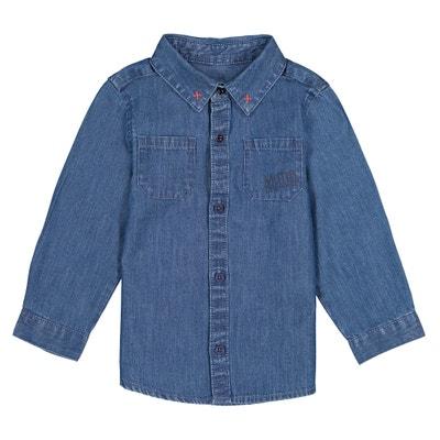 Camicia in denim maniche lunghe 1 mese - 3 anni Camicia in denim maniche lunghe 1 mese - 3 anni La Redoute Collections