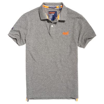 Short-Sleeved Plain Polo Shirt SUPERDRY