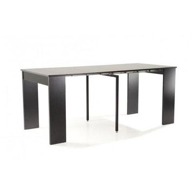 console extensible noire 180cm laqu marie line console extensible noire 180cm laqu marie line - Table Console Extensible Blanc Laque