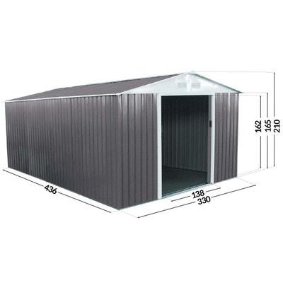 """Abri de jardin métal """"Dallas"""" - 15,16 m² Abri de jardin métal """"Dallas"""" - 15,16 m² HABITAT ET JARDIN"""