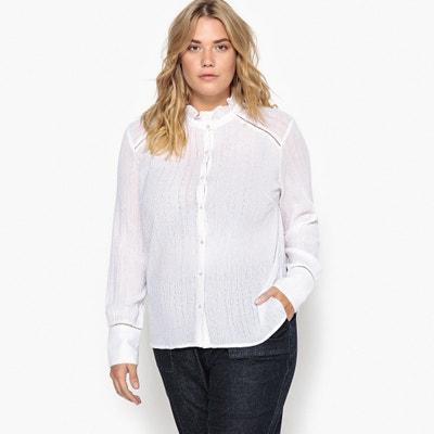 Bluse mit Stehkragen und langen Ärmeln, Baumwolle Bluse mit Stehkragen und langen Ärmeln, Baumwolle CASTALUNA