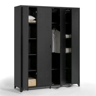 Armoire 4 portes en métal, Hiba La Redoute Interieurs