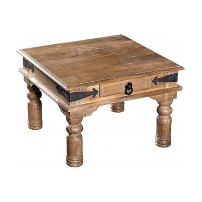 Table basse bois naturel en solde la redoute for Table basse bois naturel