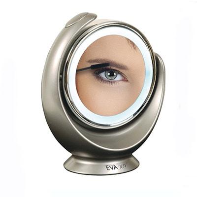 Miroir grossissant lumineux double face Miroir grossissant lumineux double face CALICOSY