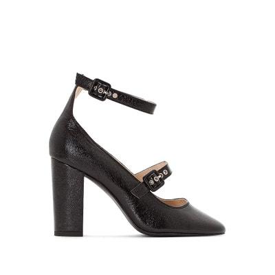 Schoenen met pailletten, hoge hak, enkelbandje Schoenen met pailletten, hoge hak, enkelbandje La Redoute Collections