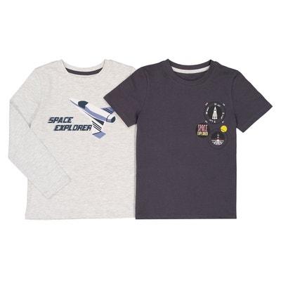 Lot de 2 t-shirts 3-12 ans La Redoute Collections