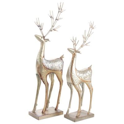Statuette renne de  Noël (Lot de 2) Statuette renne de  Noël (Lot de 2) AUBRY GASPARD