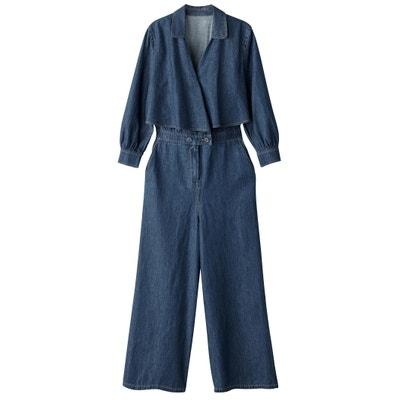 Combinaison pantalon 7/8 en denim Combinaison pantalon 7/8 en denim MADEMOISELLE R
