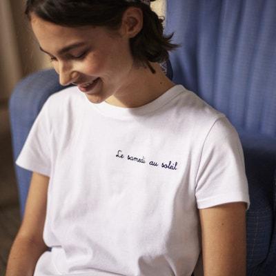 T-shirt à message, col rond, manches courtes T-shirt à message. Nouveauté.  LA REDOUTE COLLECTIONS a0528e1634a5