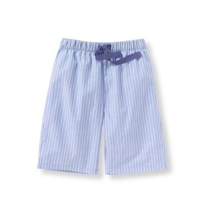 Pijama con short a rayas de popelina 2-12 años Pijama con short a rayas de popelina 2-12 años La Redoute Collections