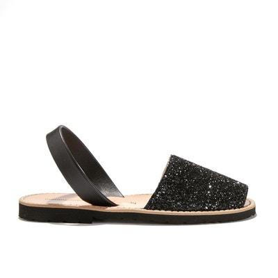 Sandales plates à paillettes AVARCA PAILLETTES Sandales plates à paillettes AVARCA PAILLETTES MINORQUINES