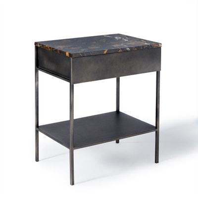 Mesa de cabeceira com tampo em mármore âmbar/metal Ambrette Mesa de cabeceira com tampo em mármore âmbar/metal Ambrette AM.PM.