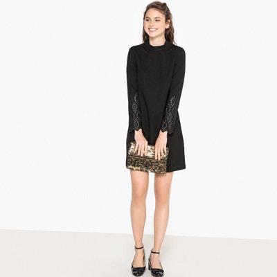 Платье прямое короткое с длинными рукавами Платье прямое короткое с длинными рукавами MADEMOISELLE R