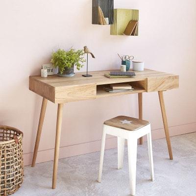bureau bois brut la redoute. Black Bedroom Furniture Sets. Home Design Ideas