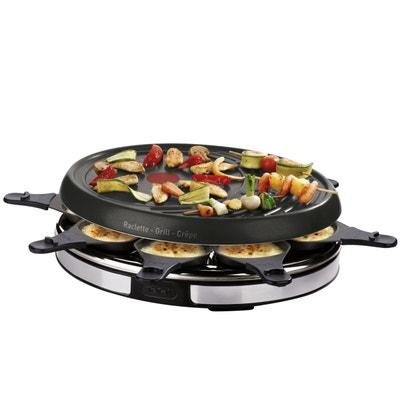 Raclette Grill Crepier Inox Design RE137812 Raclette Grill Crepier Inox Design RE137812 TEFAL