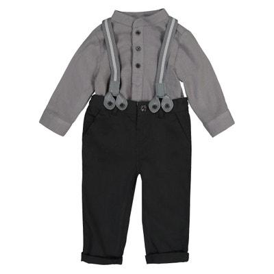 Conjunto de fiesta con pantalón y camisa, 3 meses - 3 años Conjunto de fiesta con pantalón y camisa, 3 meses - 3 años La Redoute Collections