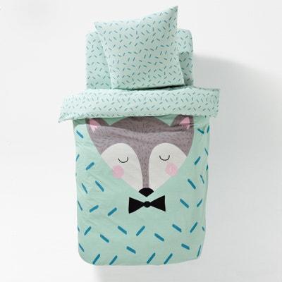 Sleepy Fox Cotton Children's Duvet Cover La Redoute Interieurs