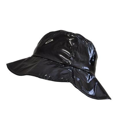 Chapeau de pluie, Capeline femme en vinyle Noir Chapeau de pluie, Capeline femme en vinyle Noir TOUTACOO