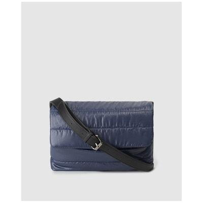 Sac à bandoulière en nylon matelassé bleu avec rabat Sac à bandoulière en  nylon matelassé bleu ceeb90ff9cab