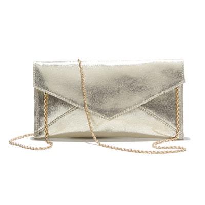 Cassandra Small Metallic Foil Leather Clutch Bag PETITE MENDIGOTE