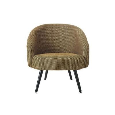 fauteuil tissu jaune moutarde velvito declikdeco - Fauteuil Scandinave Moutarde