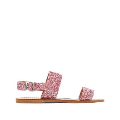 Sandales plates glitter JONAK
