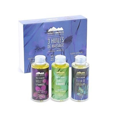 Coffret 3 huiles de massage Coffret 3 huiles de massage NATURE ET DECOUVERTES