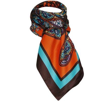 Grand foulard chatoyant orange CHAPEAU-TENDANCE