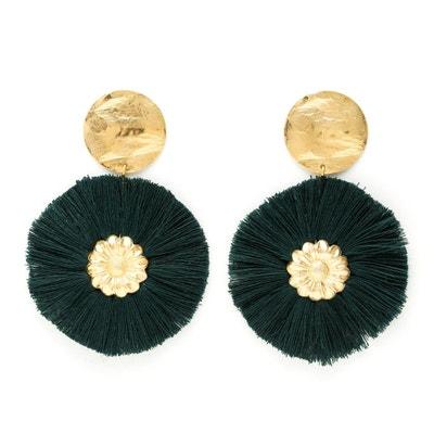 Boucles d'oreilles avec pompons Paloma Vert Boucles d'oreilles avec pompons Paloma Vert CHARLY JAMES