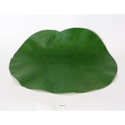 Lotus Nenuphar sous assiette Vert D 29 cm decoration ARTIFICIELLES