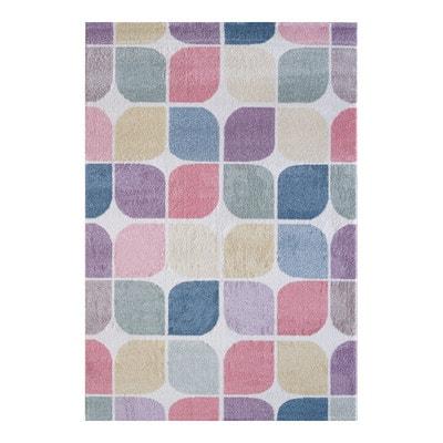 Crocheté en tapis, rond tapis pin-stripe, lilas tapis - violet