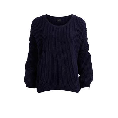 Rundhals-Pullover, lange Ärmel VILA
