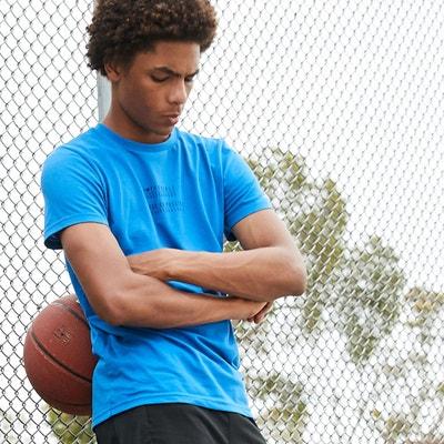 43bb4d60badf5 t-shirt col rond imprimé devant dos 10-16 ans t-shirt col