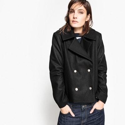 Casaco curto em lã Casaco curto em lã La Redoute Collections