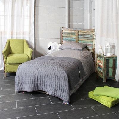 tete de lit en bois de manguier 100cm mk08 tete de lit en bois de made in meubles - Meuble Lit Pliant