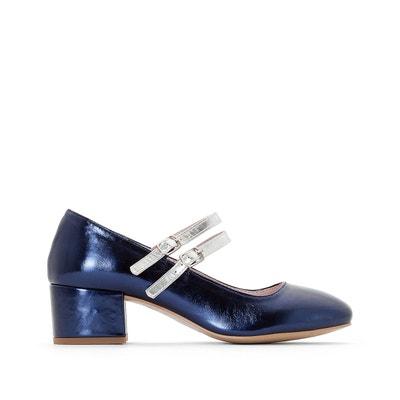 Sandales cuir compensées détail perles et franges - MADEMOISELLE R - Bleu TurquoiseMademoiselle R nWqM1