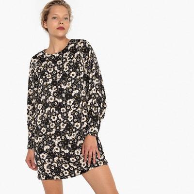 Satijnen jurk met bloemenprint Satijnen jurk met bloemenprint MADEMOISELLE R