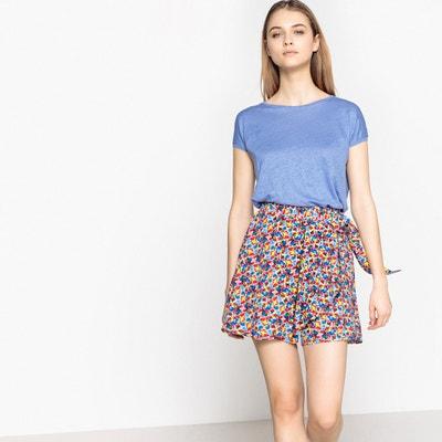 Shorts da annodare con dettaglio volant La Redoute Collections