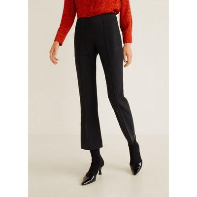 Pantalon noir femme mango en solde   La Redoute 765c1d7006e3