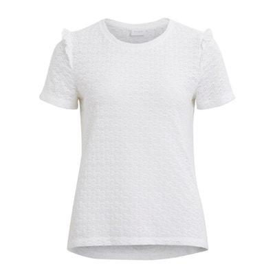 Plain Short-Sleeved Crew Neck T-Shirt VILA