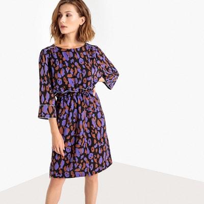 Bedrukte jurk met wijd uitlopende mouwen Bedrukte jurk met wijd uitlopende mouwen SELECTED FEMME