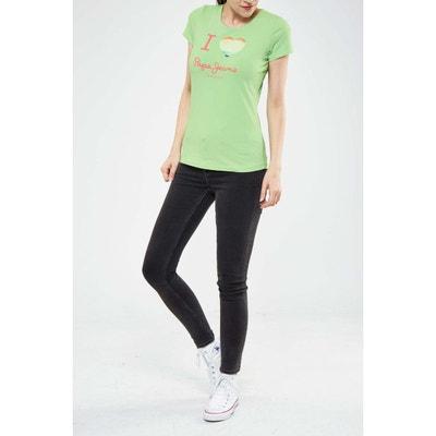 Tee Shirt Mc Dover Pepe Jeans Vert D'eau PEPE JEANS