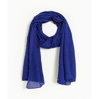 1e48dec36361 Foulard bleu électrique et perles Foulard bleu électrique et perles GRAIN  DE MALICE