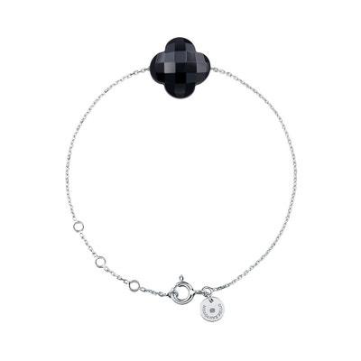Bracelet Or Blanc Trefle Onyx Bracelet Or Blanc Trefle Onyx MORGANNE BELLO c02cda557072